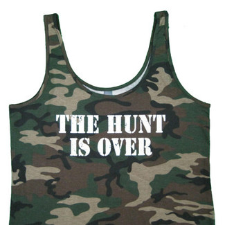 The Hunt Is Over Bride Tank Top