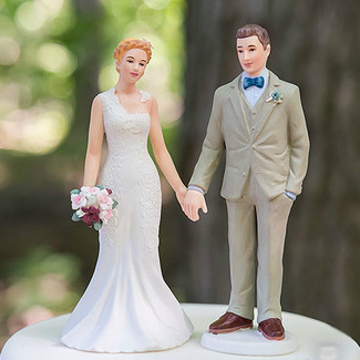 Woodland Bride and Groom Cake Topper