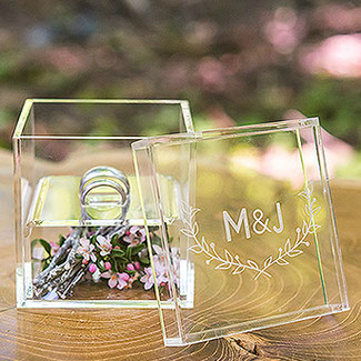 Woodland Personalized Wedding Ring Box
