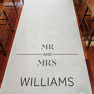 City Style Personalized Wedding Aisle Runner