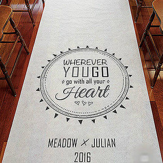 Wherever You Go Personalized Aisle Runner