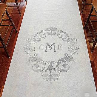 Simplicity Monogram Wedding Aisle Runner