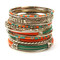 Orange and Green Bangle Set