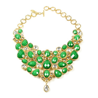 Evergreen Crystal South Fork Bib Necklace