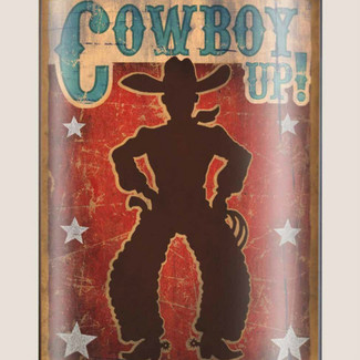Cowboy Up! Flask - 8 oz. stainless steel