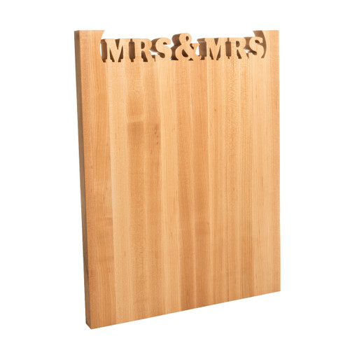 Mrs and Mrs Wedding Cutting Board