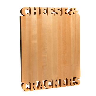 Cheese & Crackers Cutting Board
