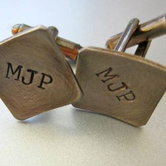 Handstamped Personalized Cufflinks
