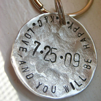 Love and You Will Be Happy Personalized Keychain