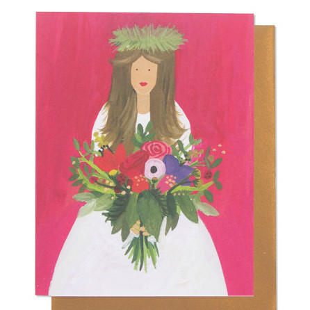 Brunette Bride Card