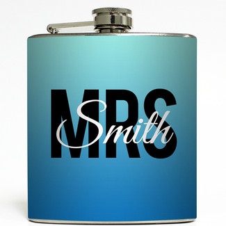Something Blue Ombre Mrs Flask