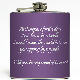 Will You Be My Bridesmaid Flask