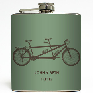 Bicycle Built For Two Flask