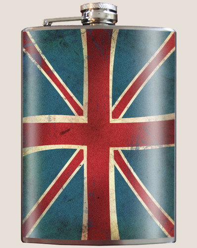 Union Jack Flask, 8 oz. stainless steel