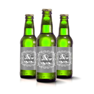 Mr & Mrs Beer Bottle Labels
