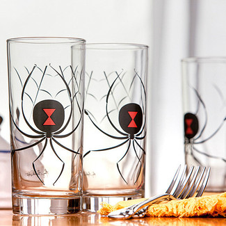 Black Widow Spider Water Glasses