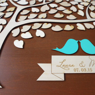 Love Birds Wedding Guestbook Alternative II
