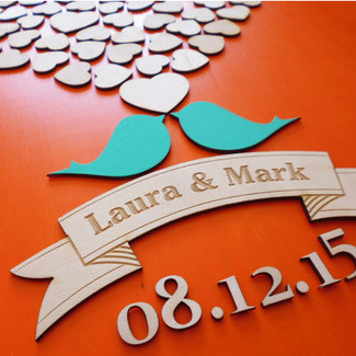 Love Birds Wedding Guestbook Alternative 3D