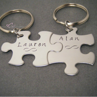 Infinity Puzzle Piece Keychains