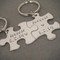 Forever Puzzle Piece Keychains