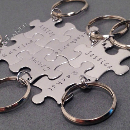 Bridesmaid Puzzle Piece Keychains