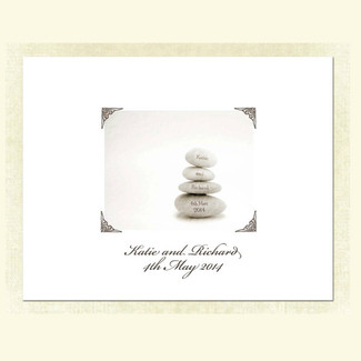 Wedding Stones Guestbook Alternative