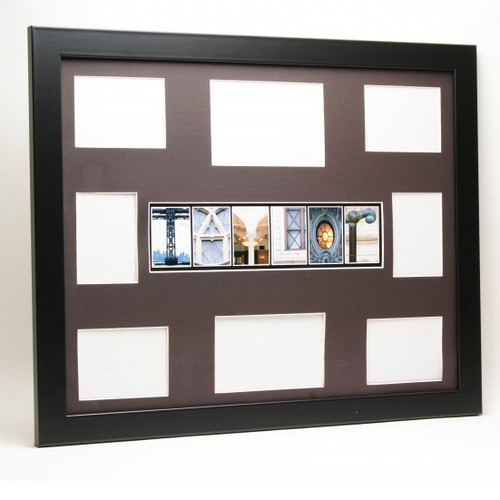 Black Frame name Collage Storybook Guest Registry