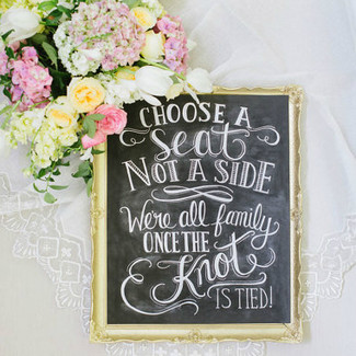 Choose A Seat Not A Side Print - Chalkboard Print