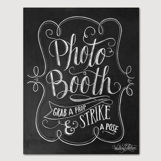 Wedding Photo Booth Chalkboard Print