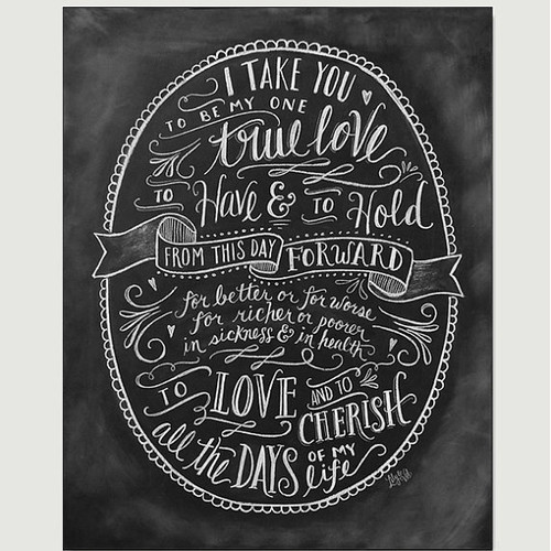 Wedding Vows - Chalkboard Print