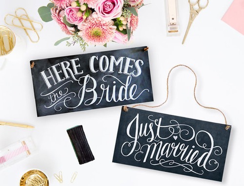 Here Comes The Bride Sign - Just Married Sign