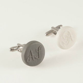 Engraved Porcelain Cufflinks
