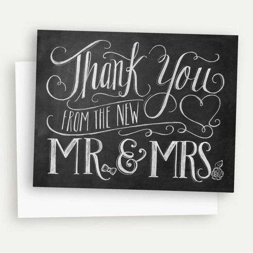 Thank You From The New Mr & Mrs