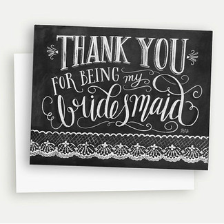 Thank You For Being My Bridesmaid - Box Set of 8 Cards
