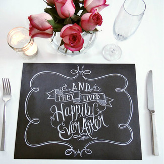 Book Of 25 Tear-Out Wedding Paper Placemats - And They Lived Happily Ever After
