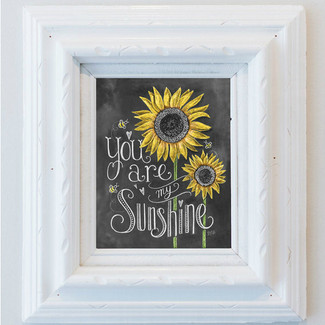 You Are My Sunshine - Chalk Art