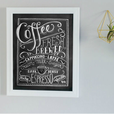 Coffee Lover - Chalk Art