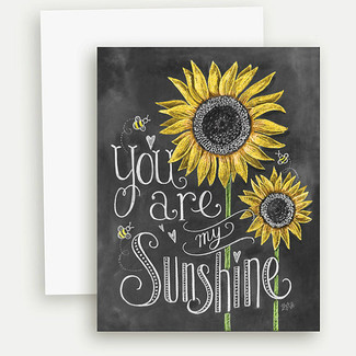 You Are My Sunshine Note Card