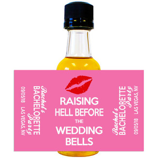 Bachelorette Party Mini Bottle Favors