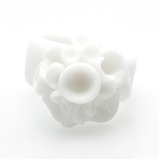 White Porcelain Cocktail Ring