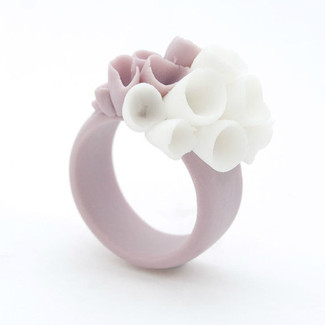 Pastel Purple Porcelain Ring