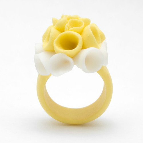 Pastel Ceramic Yellow Ring