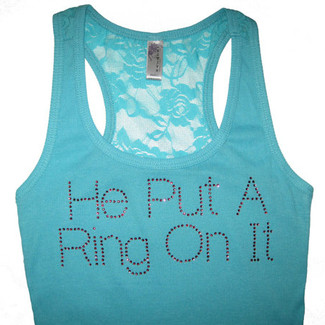 He Put A Ring On It - Bridal Lace Tank Top