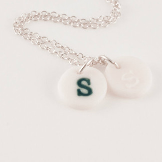 Personalized Porcelain Initial Charm