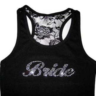 Bride - Bridal Lace Tank Top