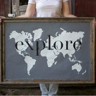 Explore Giant Modern World Map Print