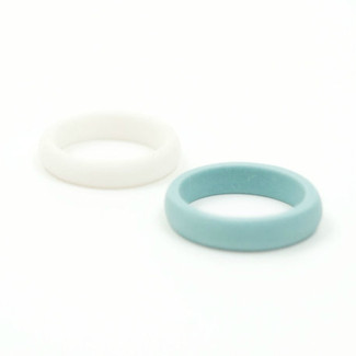 Simple Porcelain Stack Rings