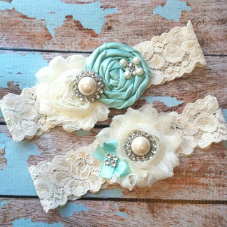 Wedding Vintage Lace Garter Set