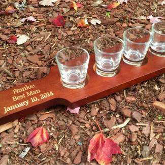 Personalized Shot Glass Paddle
