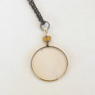 Antique Monocle Optical Lens Necklace
